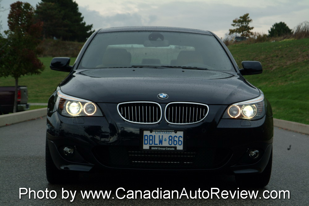 2008 BMW 550i Black front headlights
