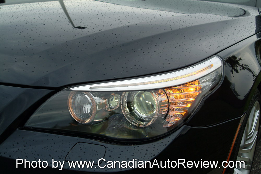 2008 BMW 550i Black headlights