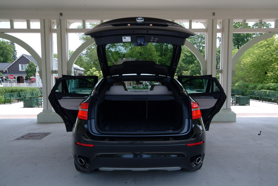 2008 BMW X6 xDrive35i Black doors open trunk