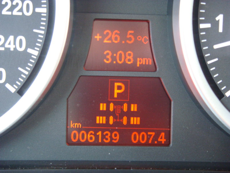 2008 BMW X6 xDrive35i Black gauges display