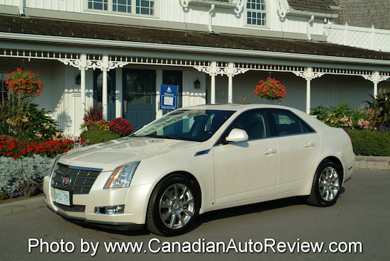 2008 Cadillac CTS White front