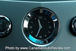 2008 Cadillac CTS White clock