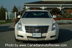 2008 Cadillac CTS White front grill