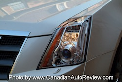 2008 Cadillac CTS White front headlights