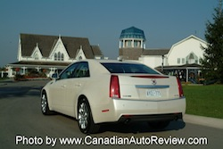 2008 Cadillac CTS White rear