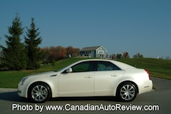 2008 Cadillac CTS White side