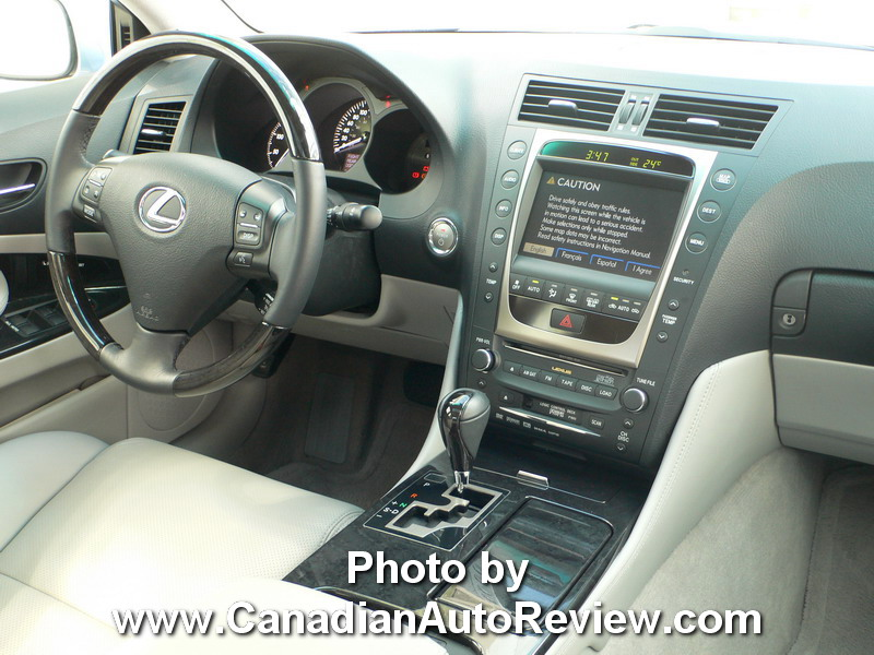 2008 Lexus GS450h Blue interior