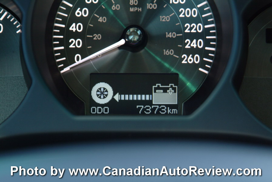 2008 Lexus GS450h Blue gauges
