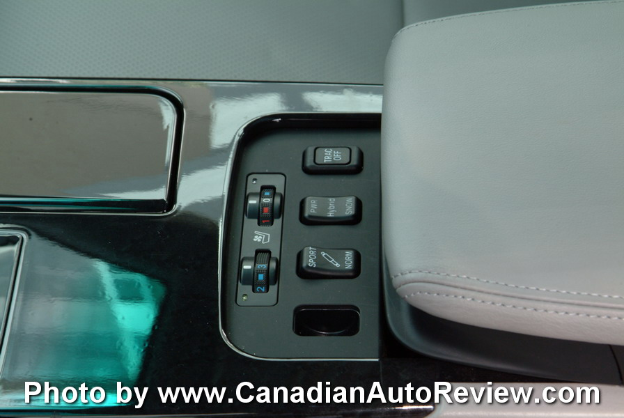 2008 Lexus GS450h Blue seat controls