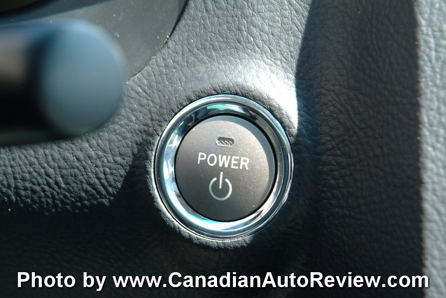 2008 Lexus GS450h Blue power button