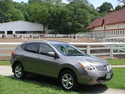2008 Nissan Rogue Gray side