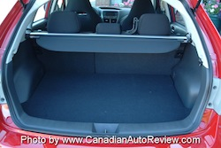 2008 Subaru Impreza WRX Red trunk space