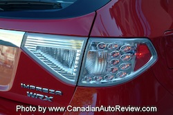 2008 Subaru Impreza WRX Red rear taillights