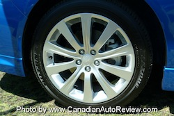 2008 Subaru Impreza WRX Blue wheels rims tires
