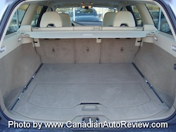 2008 Volvo XC70 Gray rear trunk storage