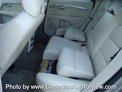 2008 Volvo XC70 Gray rear leather seats