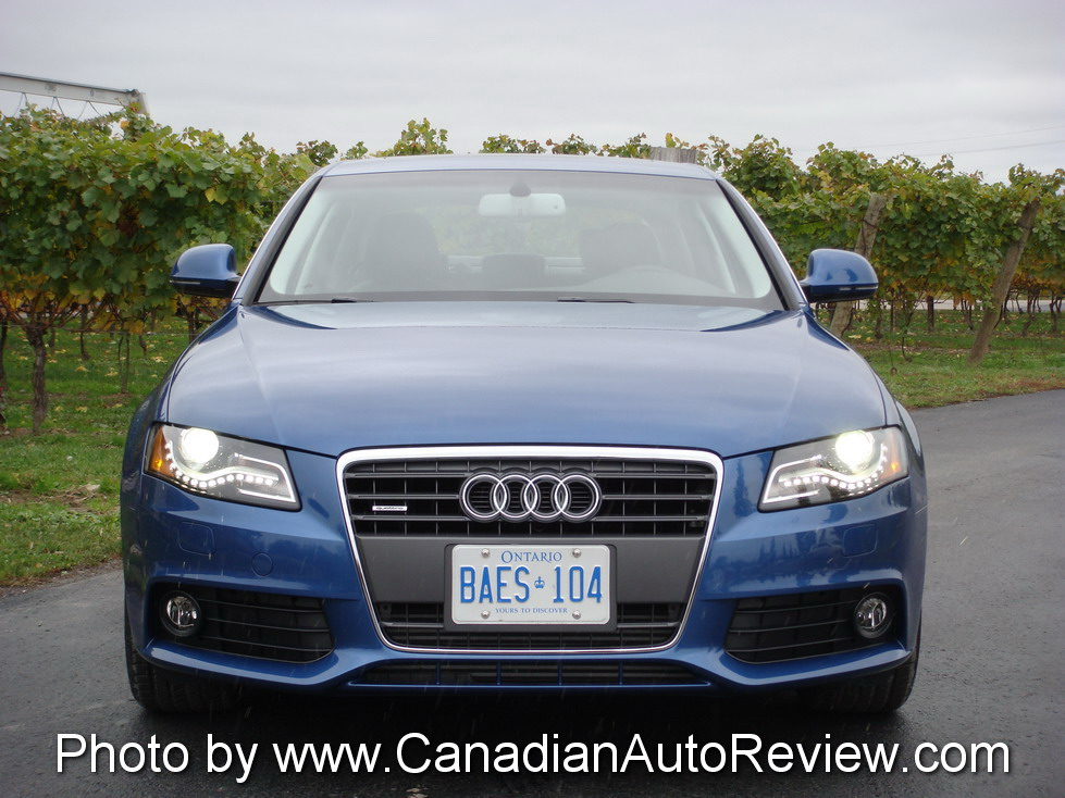 2009 Audi A4 3.2 Quattro Blue front headlights