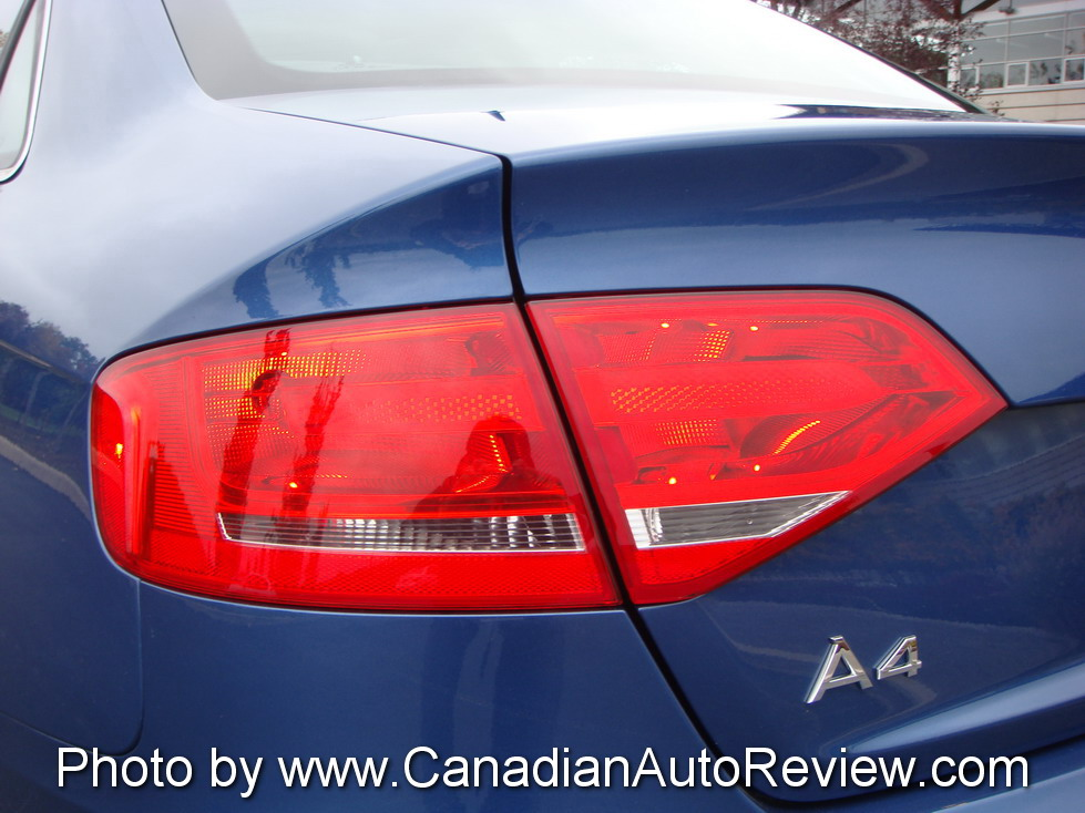 2009 Audi A4 3.2 Quattro Blue rear taillights