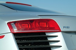 2009 Audi R8 Silver rear taillights