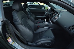 2009 Audi R8 Silver front seats
