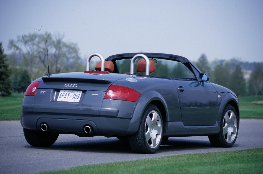 2009 Audi TT Roadster Gray rear top down