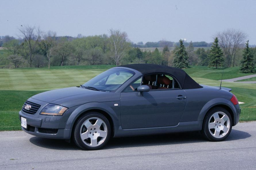 2009 Audi TT Roadster Gray side top up