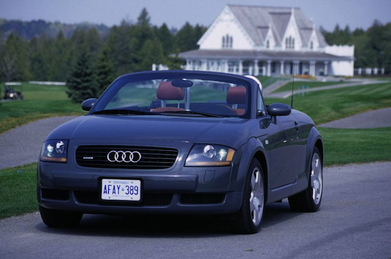 2009 Audi TT Roadster Gray top down