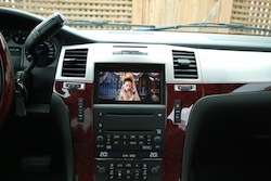 2009 Cadillac Escalade EXT Gray front display dvd player