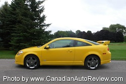 2009 Chevrolet Cobalt SS Yellow side skirts