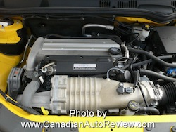 2009 Chevrolet Cobalt SS Yellow engine