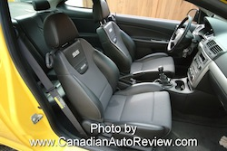 2009 Chevrolet Cobalt SS Yellow front seats