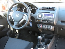 2009 Honda Fit Orange interior