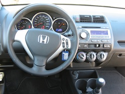 2009 Honda Fit Orange interior steering wheel