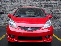 2009 Honda Fit Red front