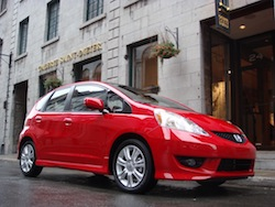2009 Honda Fit Red