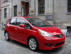 2009 Honda Fit Red front view