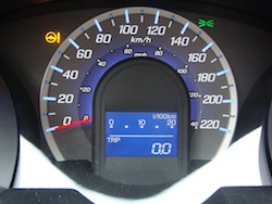 2009 Honda Fit Orange gauges speedometer