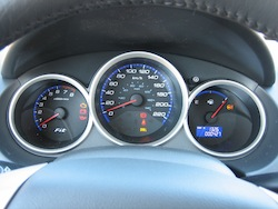 2009 Honda Fit Orange gauges
