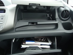 2009 Honda Fit Orange glove compartment
