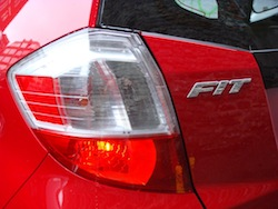 2009 Honda Fit Red taillights