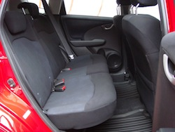 2009 Honda Fit Orange rear seats