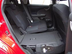 2009 Honda Fit Orange rear seat fold down