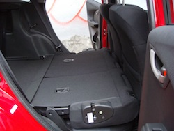2009 Honda Fit Orange rear seats all folded down