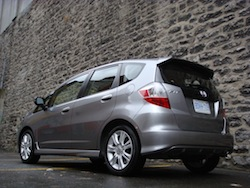 2009 Honda Fit Silver rear