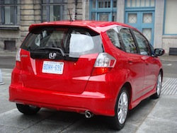 2009 Honda Fit Red rear