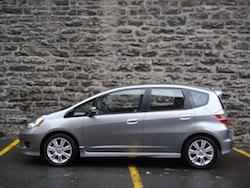 2009 Honda Fit Silver side