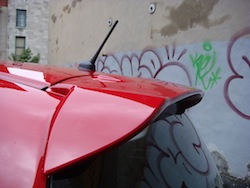 2009 Honda Fit Red rear spoiler