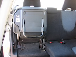 2009 Honda Fit Orange rear seat fold