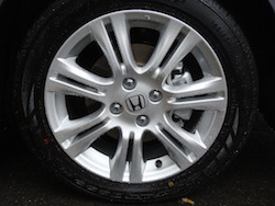 2009 Honda Fit Orange wheels rims