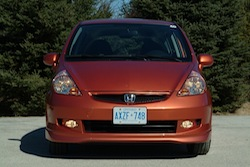 2009 Honda Fit Orange front